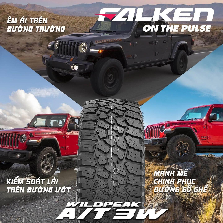 Dòng lốp OFF ROAD mới của Falken AT3W đem lại cảm giác mạnh mẽ trên mọi cung đường