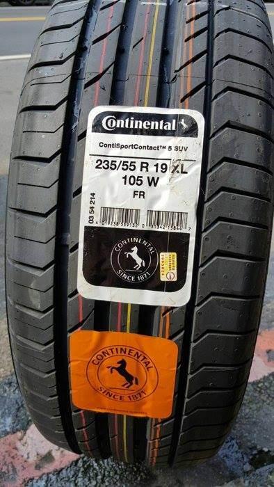 235/55R19 Continental SportContact 3 xuất xứ EU