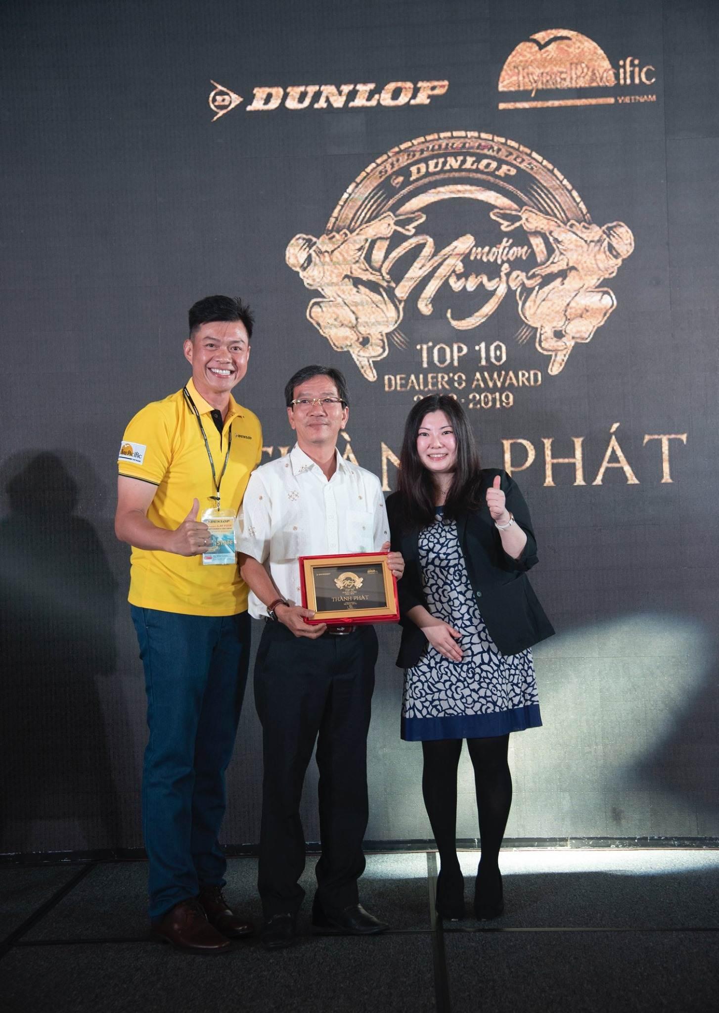 Công Ty Yến Phong vinh dự là top 5 đại lý xuất sắc nhất của DUnlop