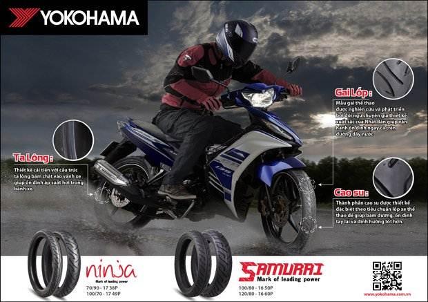 Bán, nhận đặt hàng lốp xe máy, xe tay ga YOKOHAMA