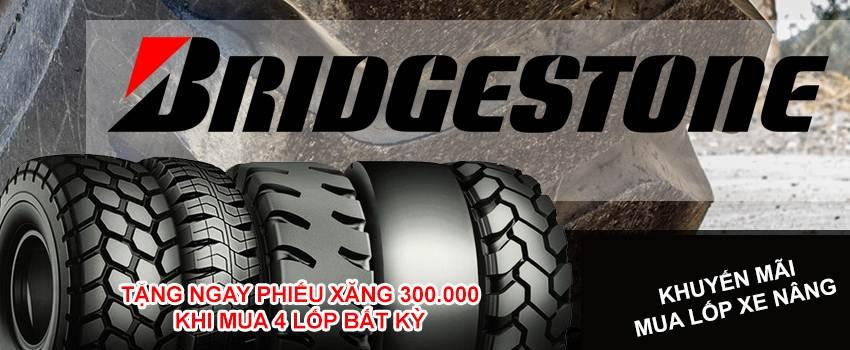 Mua 4 lốp xe nâng bridgestone chính hãng tặng 1 thẻ nhiên liệu 300.000