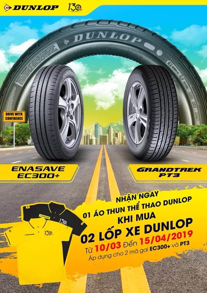 Khuyến mãi khi mua lốp xe Dunlop tháng 4