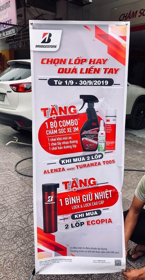 Khuyến mãi mua lốp xe Bridgestone tại Trung Tâm Vỏ Xe Yến Phong tháng 9