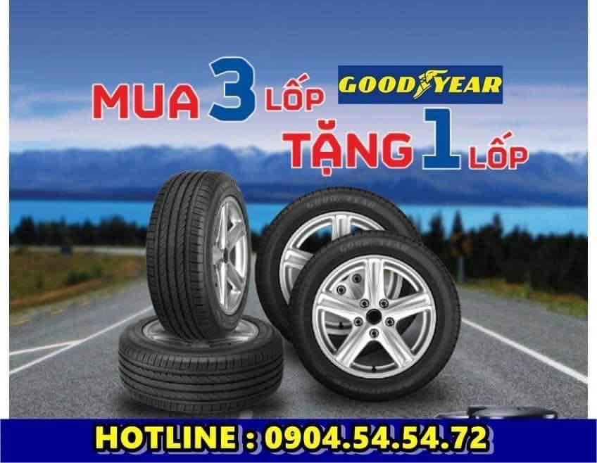 Lốp xe GOODYEAR mua 4 Tính 3 Tháng 8-2020