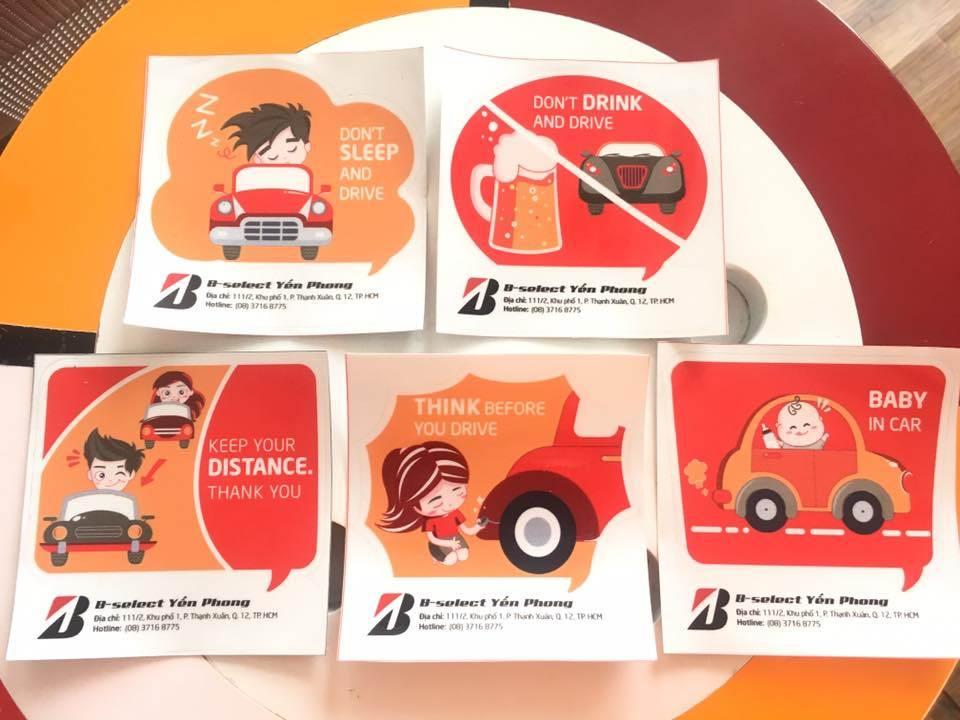 Nhận ngay sticker phản quang khi đến trung tâm dịch vụ lốp xe Yến Phong
