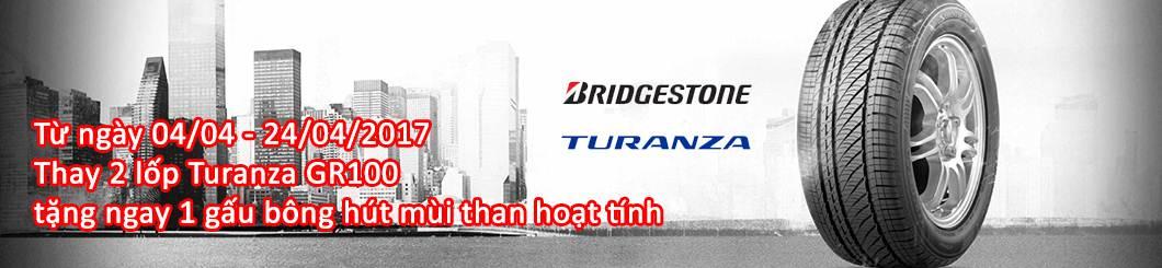 Khuyến mãi khi thay lốp xe Bridgestone Turanza tặng quà liền tay